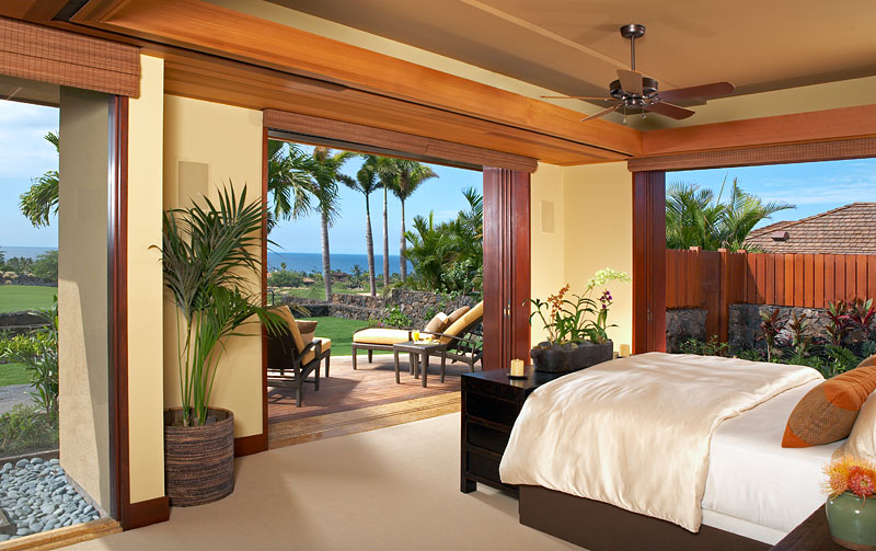 Hualalai Luxury Home Design Master Bedroom