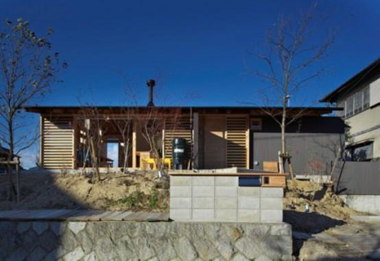 Hut In Woods In Modern Japanese Interpretation