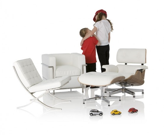 Iconic Chairs and Tables Replicated for Kids