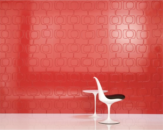 Iconic Decorative Panels Red