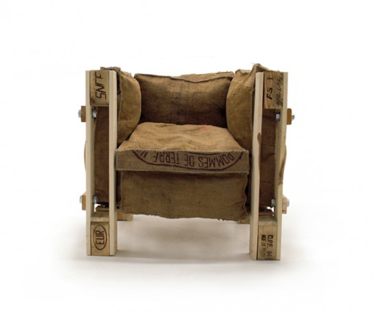 Iconic Le Corbusier Chair Of Recycled Materials