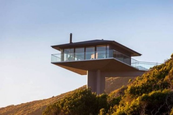 Iconic Pole House That Overlooks Ocean On 3 Sides