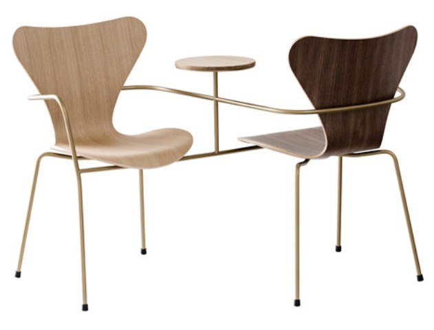 Iconic series 7 chair re edition by famous architects for Famous chairs
