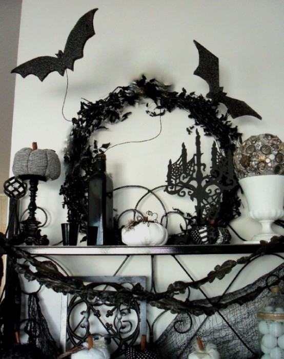 ideas for elegant black and white halloween - Black And White Halloween Party