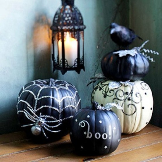 Ghostly white and glossy black pumpkins could frighten even the bravest of souls.