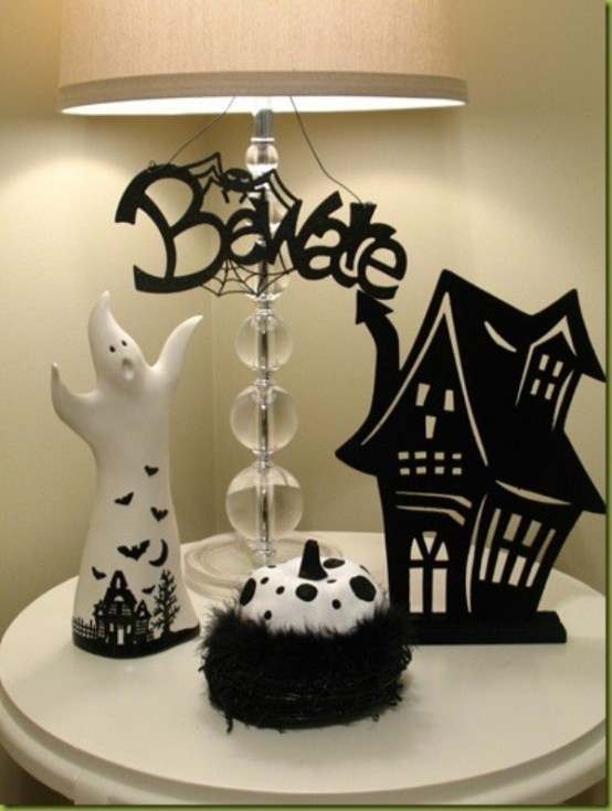 ideas for elegant black and white halloween - Sophisticated Halloween Decorations