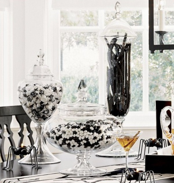 Table Decorations Black And White Theme 50 Ideas For Elegant Black And White Halloween Decor DigsDigs