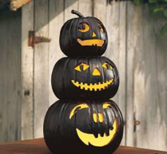 50 ideas for elegant black and white halloween decor - Calabazas decoradas para halloween ...