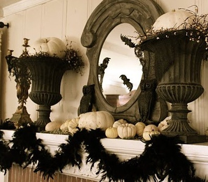 20 Elegant Halloween Home Decor Ideas: 50 Ideas For Elegant Black And White Halloween Decor