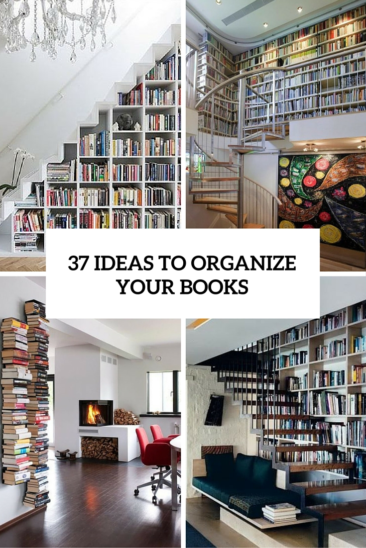 ideas to organize your books at home cover