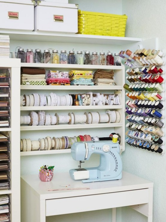 Popular 40 Ideas To Organize Your Craft Room In The Best Way - DigsDigs PB89