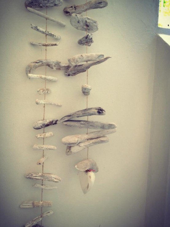 driftwood mobiles are easy to DIY and you may hang them anywhere you want