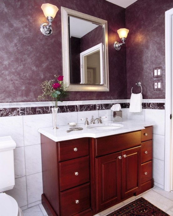 Best Ideas To Use Marsala For Bathroom Decor