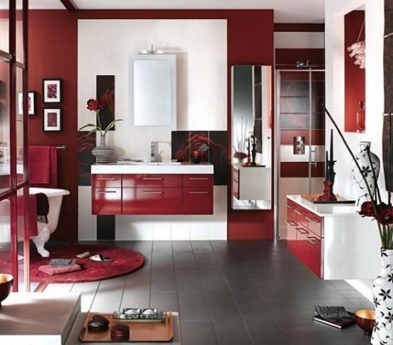 Inspirational Ideas To Use Marsala For Bathroom Decor