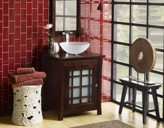 Ideas To Use Marsala For Bathroom Decor