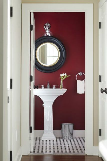 Popular Ideas To Use Marsala For Bathroom Decor