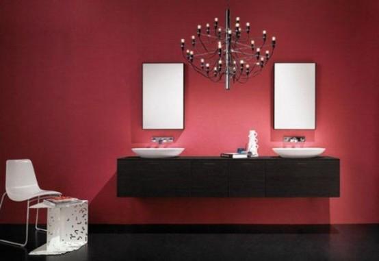 22 Ideas To Use Marsala For Bathroom Décor