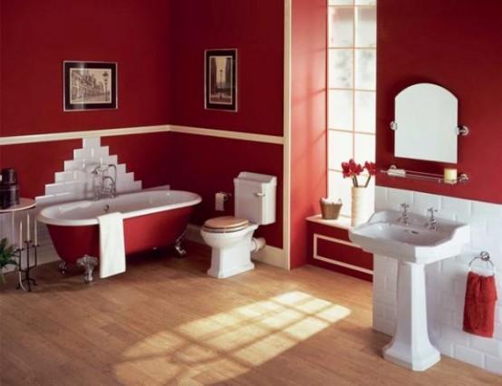 Best Ideas To Use Marsala For Bathroom Decor