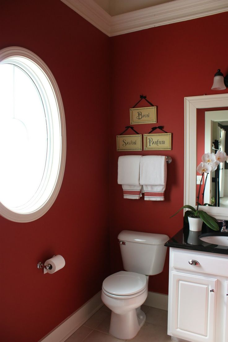 22 ideas to use marsala for bathroom d cor digsdigs for Red bathroom designs
