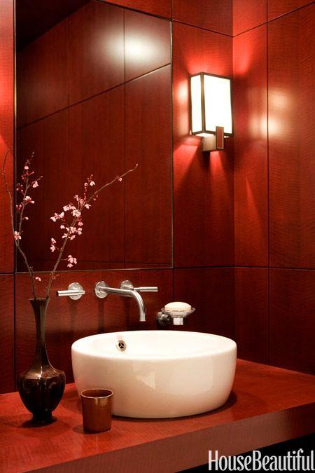 Marvelous Ideas To Use Marsala For Bathroom Decor