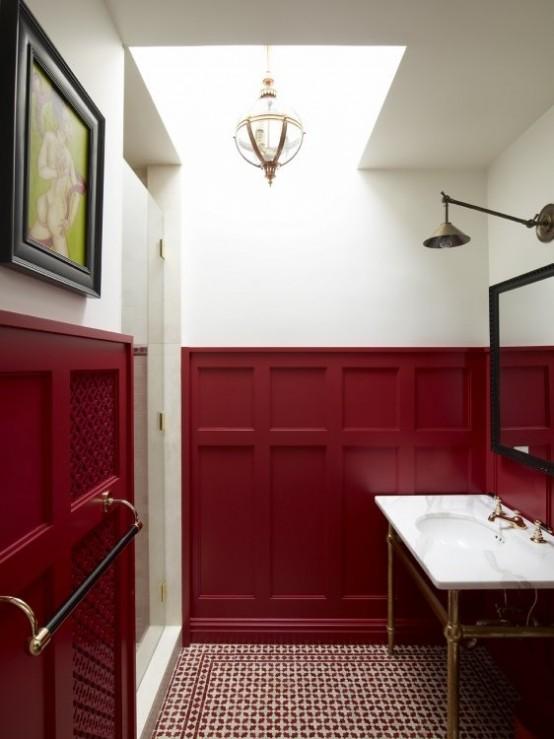 Spectacular Ideas To Use Marsala For Bathroom Decor