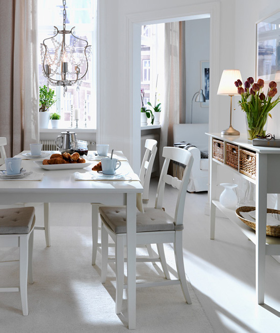 Ikea 2010 dining room and kitchen designs ideas and for Small dining room furniture ideas
