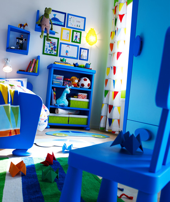 Blue Kids Room: IKEA 2010 Teen And Kids Room Design Ideas