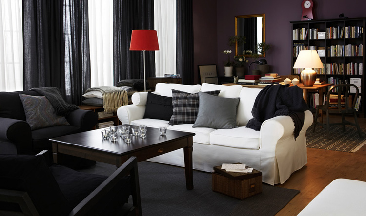 Ikea living room design ideas 2010 digsdigs - Black sofas living room design ...