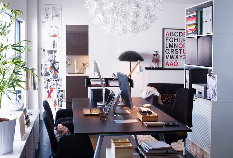 Ikea workspace organization ideas 2011 digsdigs for How to decorate office desk