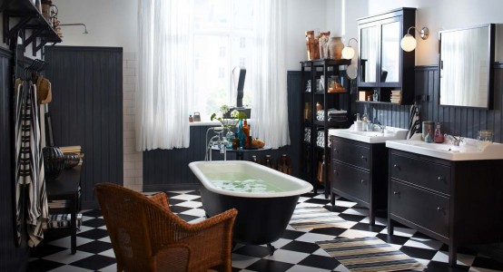 Black and White Bathroom Ideas-www.digsdigs.com