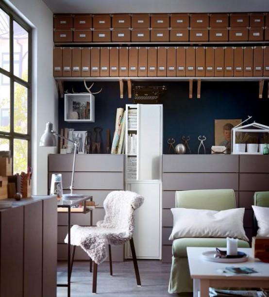 Houzify Home Design Ideas: IKEA Workspace Organization Ideas 2013