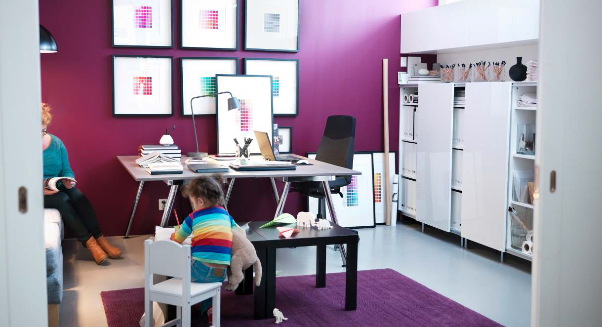 IKEA Home Office Decorating Ideas