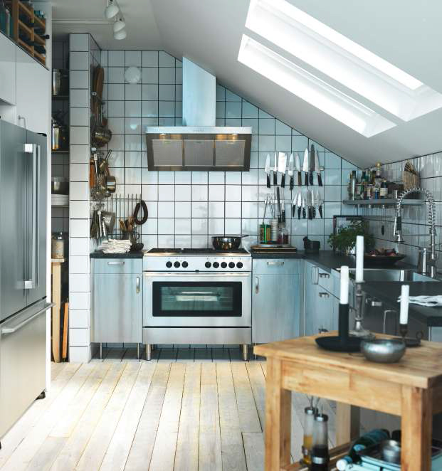 Small Industrial Kitchen Design Ideas-www.digsdigs.com