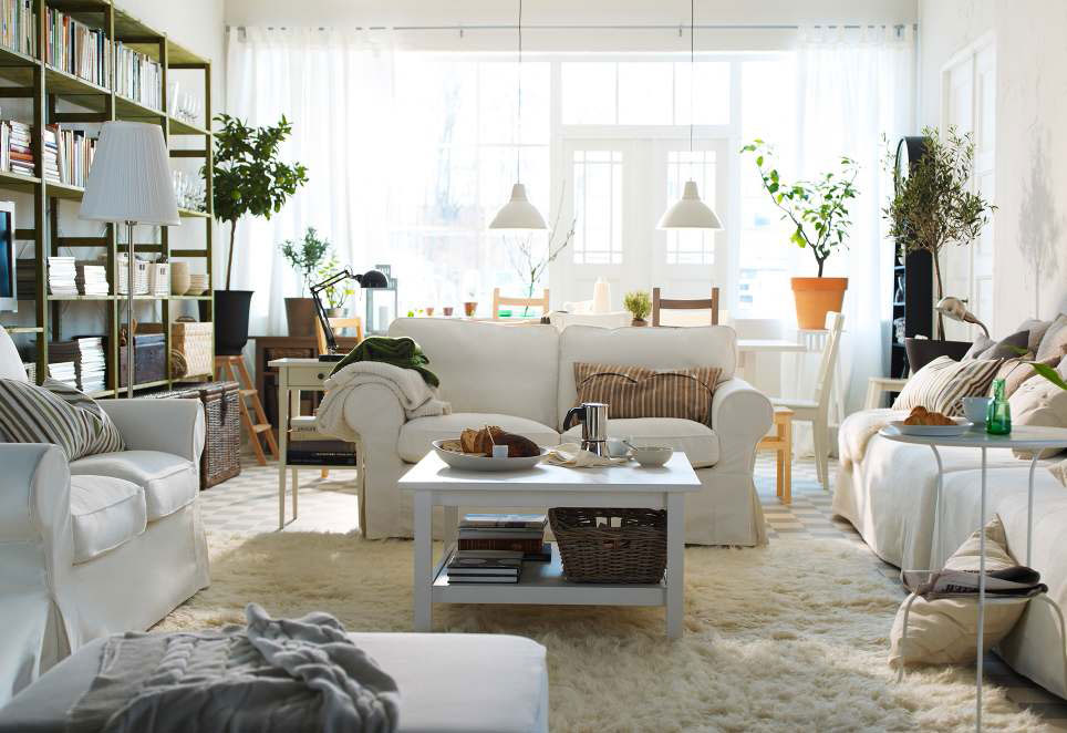 Ikea living room design ideas 2012 digsdigs for Living room decorating ideas for an apartment