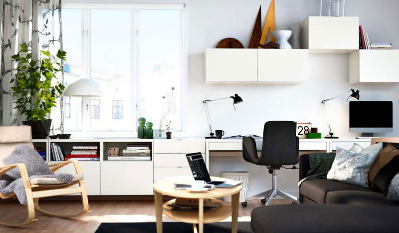 Ikea Office Design ~ Ikea living room design ideas digsdigs