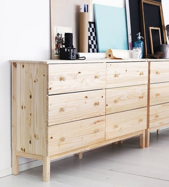 neutral Tarva dressers to fit a contemporary, Scandinavian or minimalist space