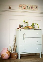 a simple mint-painted Tarva dresser for a tender pastel touch in your space