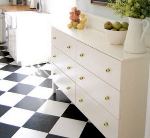a white Tarva dresser with gold knobs is timeless classics that will fit most of interiors