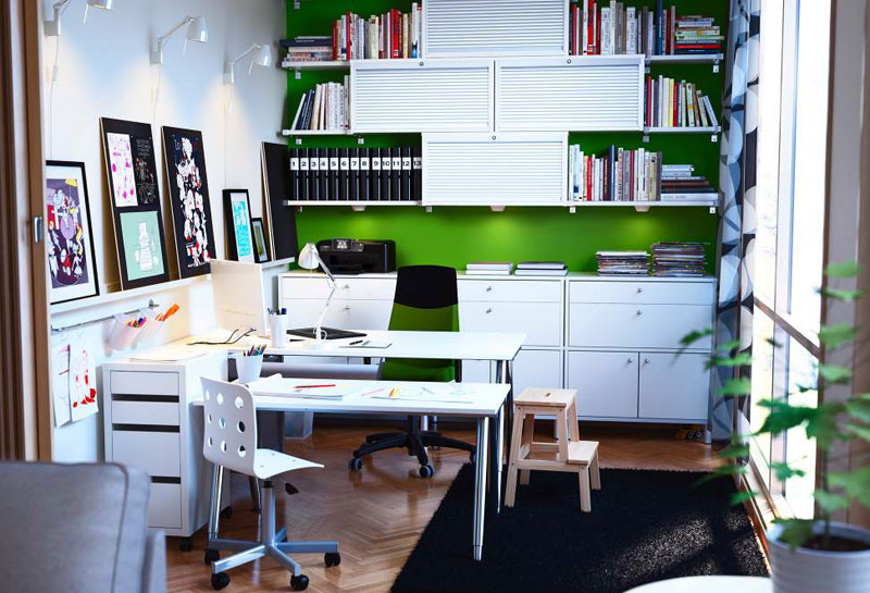 ikea workspace organization ideas 2012 digsdigs. Black Bedroom Furniture Sets. Home Design Ideas