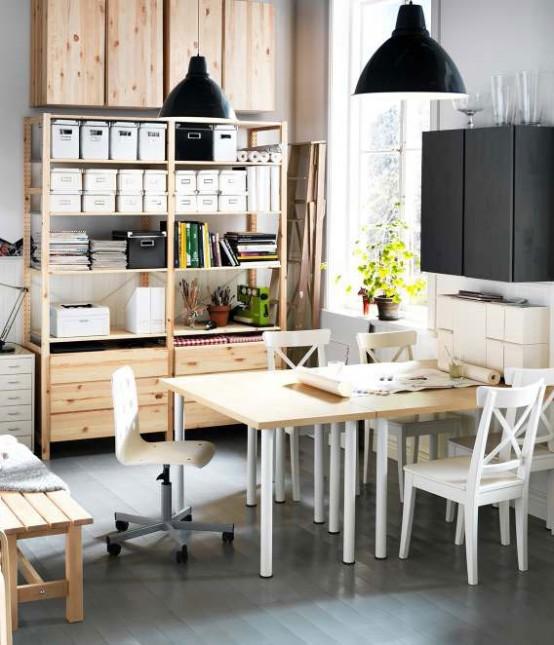 IKEA Workspace Organization Ideas 2012 - DigsDigs