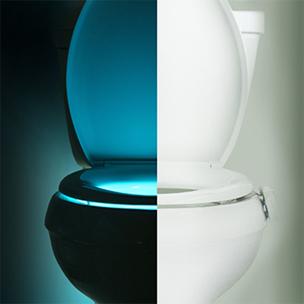 Picture Of illumibowl toilet seat lights in different lights  2
