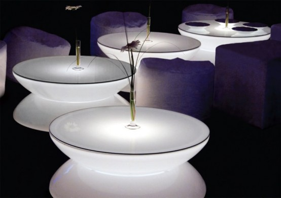 Translucent LED Light Tables – Lounge from Moree