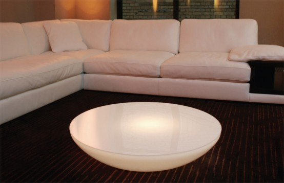 Modern-white-light-table-for-living-room-design