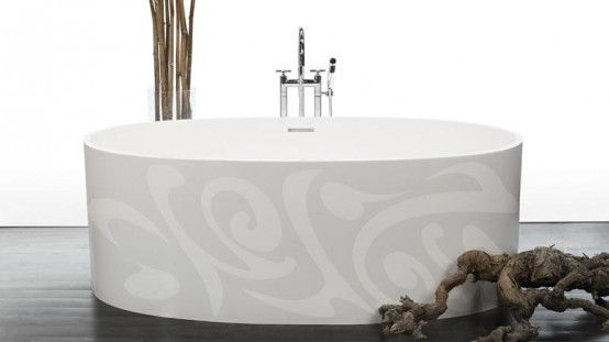 Elegant Modern Bathtubs With Different Patterns