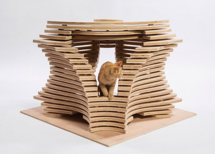 Charming Imaginative And Bold Cat Houses With Futuristic Designs