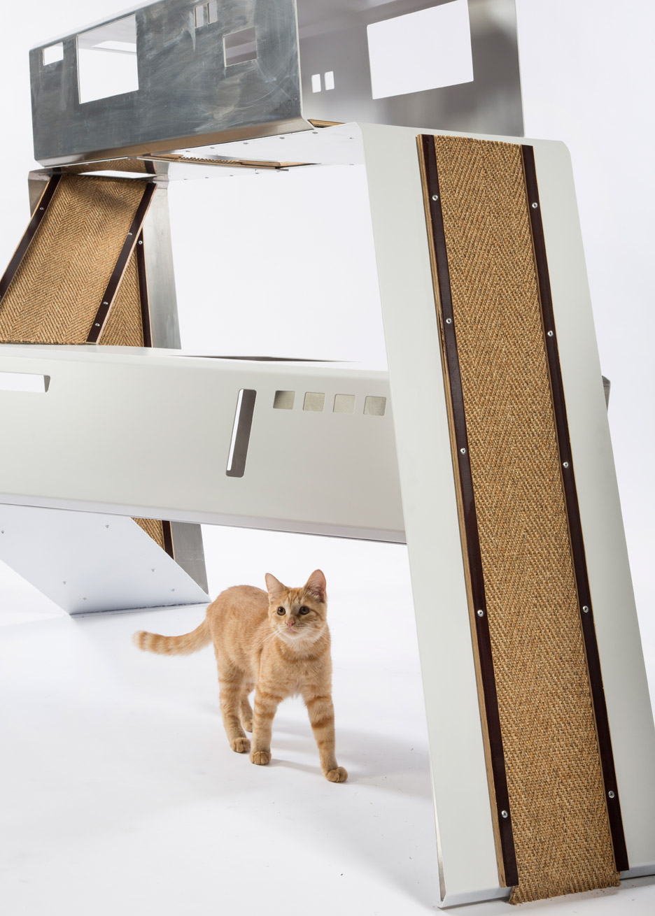 Picture Of imaginative and bold cat houses with futuristic designs  12