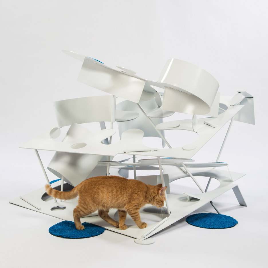 Picture Of imaginative and bold cat houses with futuristic designs  6