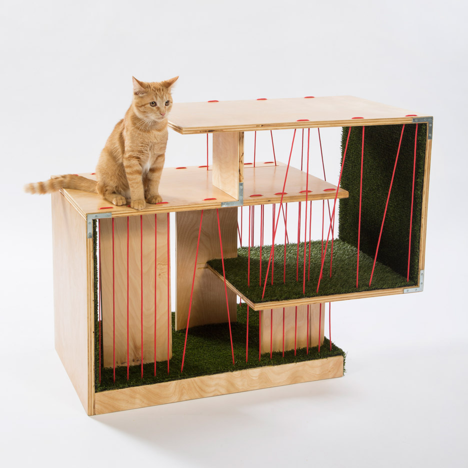 Picture Of imaginative and bold cat houses with futuristic designs  8