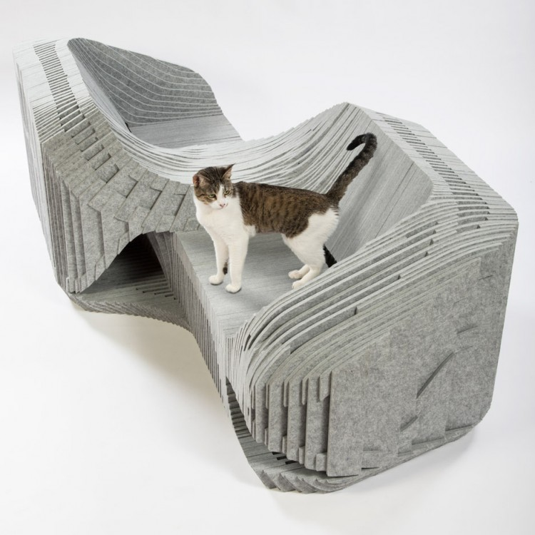 Imaginative and bold cat houses with futuristic designs for Architecture and design dog house