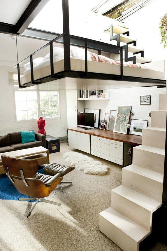 Impressive And Chic Loft Bedroom Design Ideas